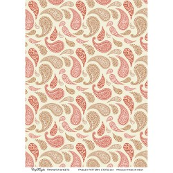 CrafTangles A4 Transfer It Sheets - Paisley Pattern