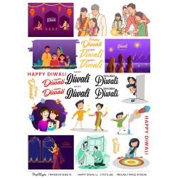 CrafTangles A4 Transfer It Sheets - Happy Diwali 4