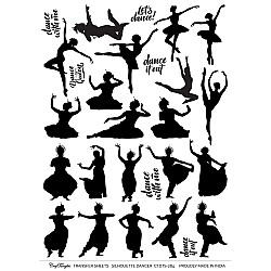 CrafTangles A4 Transfer It Sheets - Silhouettes - Dancer