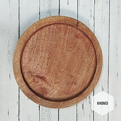 Circle Wooden Tray for Decoupage