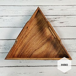 Triangle Wooden Tray for Decoupage