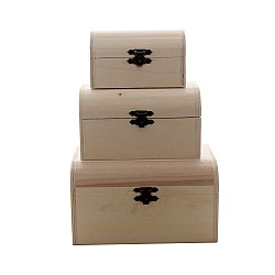 Wooden Treasure Boxes (Set of 3)