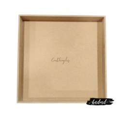 CrafTangles MDF Tray or Shadow Box (12.5 by 12.5 inches)
