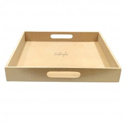 CrafTangles MDF Straight Edged Tray (12.5 by 12.5 inches)