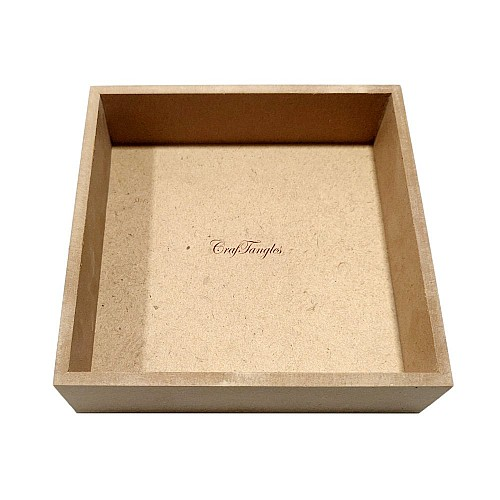CrafTangles MDF Tray or Shadow Box (6 by 6 by 1.5 inch)