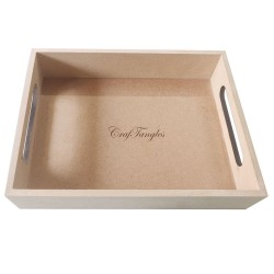 CrafTangles MDF Straight Edged Tray (6.25 by 8.25 by 1.5 inch)
