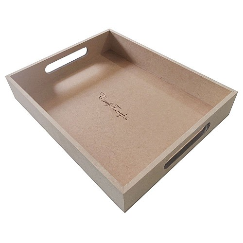 CrafTangles MDF Straight Edged Tray (8.5 by 10.5 by 1.75 inch)