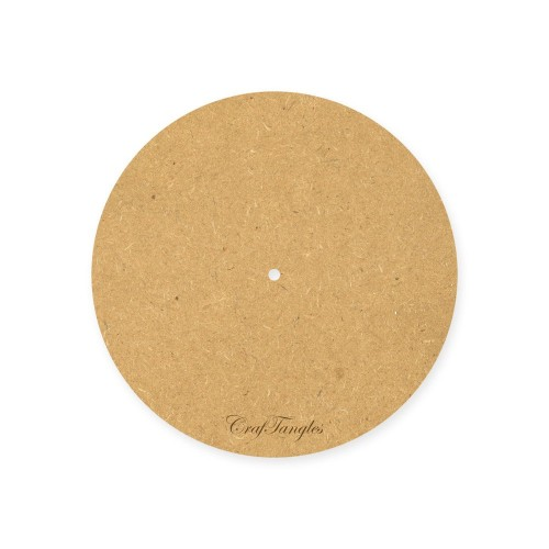 CrafTangles 10 inch 5 mm thick MDF Circle Clock Base