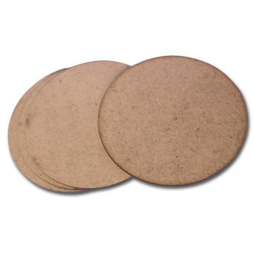 CrafTangles 5mm MDF Tea Coasters (4 pcs) - Circle