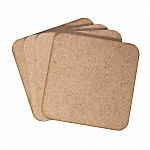 CrafTangles MDF Tea Coasters (4 pcs) - Rounded Square