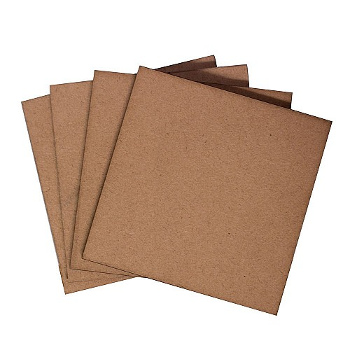 CrafTangles 5mm MDF Tea Coasters (4 pcs) - Square