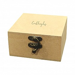 CrafTangles MDF Box (4 by 4 by 2 inches)