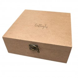 CrafTangles MDF Box (8 by 8 by 3 inches)