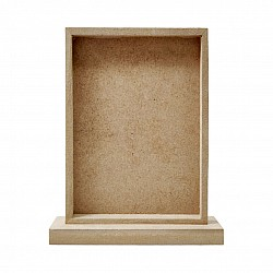 CrafTangles MDF Standing Photo frame (6 by 8.75 inches)
