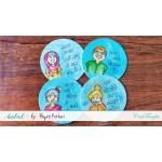 CrafTangles MDF Tea Coasters (4 pcs) - Circle