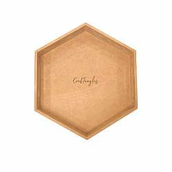CrafTangles Hexagon MDF Tray (11.25 by 11.25 inches)