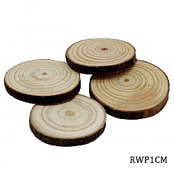 Natural Wooden Slices 1 Inch (Pack of 4 pcs)