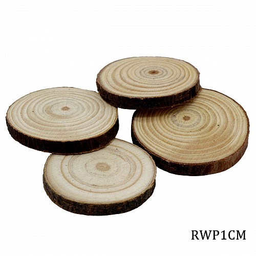 Natural Wooden Slices 1 cm (Pack of 4 pcs)