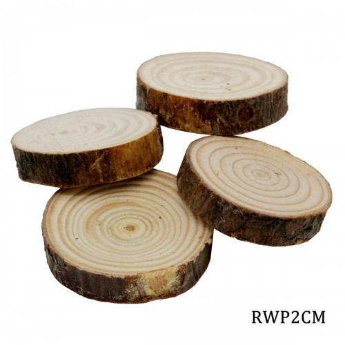 Natural Wooden Slices 2 cm (Pack of 4 pcs)