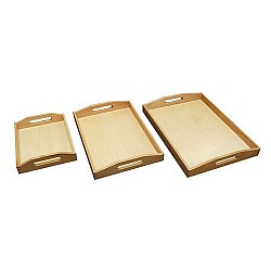 Wooden Tray for Decoupage (Set of 3)
