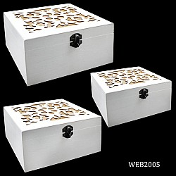 Rectangular decorative Wooden Boxes (Set of 3)