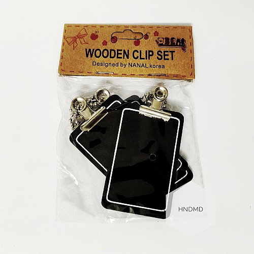 Small wooden clipboards (Pack of 3)