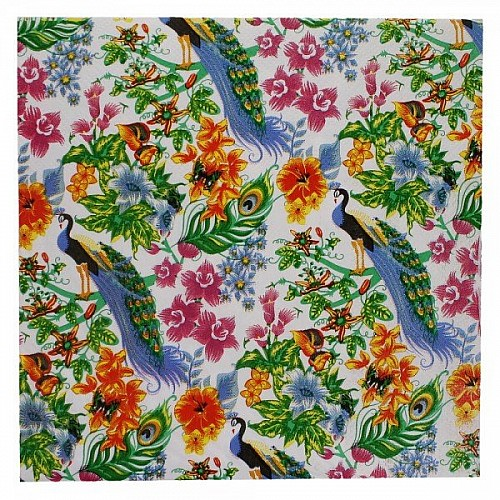 A pack of 12 by 12 inch Decoupage Napkins(5 pcs)  - Floral Design 19