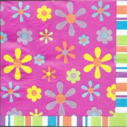 A pack of 12 by 12 inch Decoupage Napkins(5 pcs)  - Floral Design 27