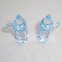 Baby Milk Bottle Plastic - Baby Blue - Large