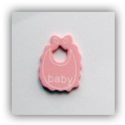 Baby Bibs Wooden - Baby Pink