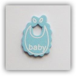 Baby Bibs Wooden - Baby Blue