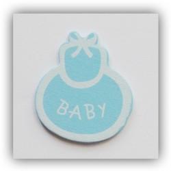 Baby Booties Wooden - Baby Blue