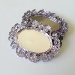 Plastic cameo frames - Silver