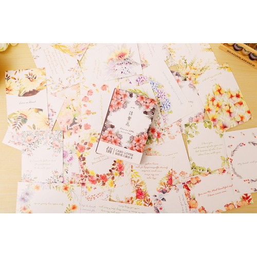 Floral Card Ephemera pack (Pack of 28 die cuts)