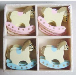 Assorted Chipboard Pack - Baby Horse Carriage