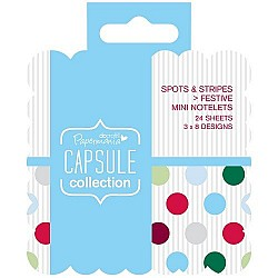 DoCrafts Capsule Collection - Mini square notelets (Sports and Stripes)