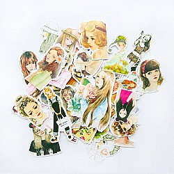 Fashion Girls Ephemera or Stickers (20 pcs)