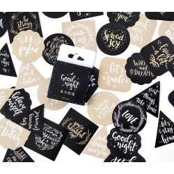 Quotes Cards Stickers or Ephemera (40 pcs)