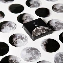 Phases of Moon Stickers or Ephemera (45 pcs)