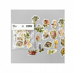 Floral gold foiled Stickers or Ephemera (45 pcs)