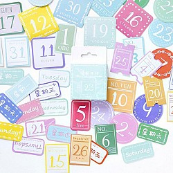 Colorful numbers Stickers or Ephemera (45 pcs)