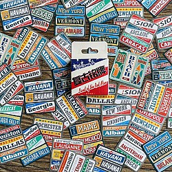 Colorful travel plates Stickers or Ephemera (45 pcs)