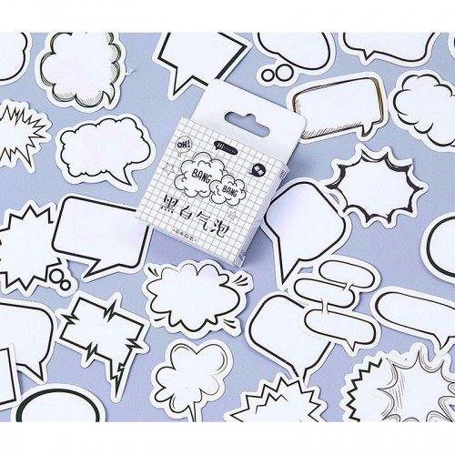 Speech bubbles Stickers or Ephemera (45 pcs)