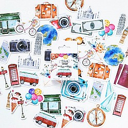 Travel Elements Stickers or Ephemera (45 pcs)