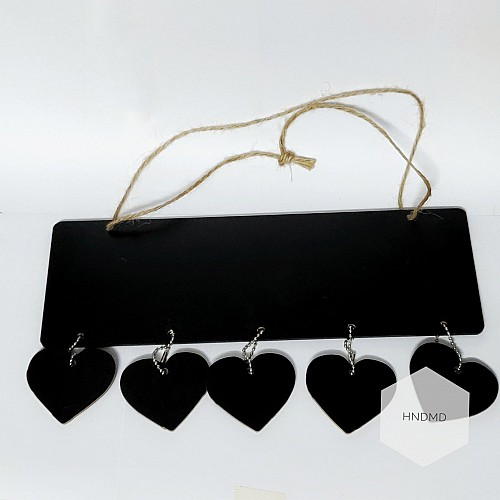 Heart shaped Black board hanging