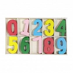 Wooden Colored Numbers (Large) 60PCWAZW-C