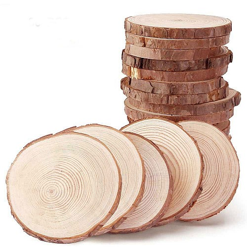 Natural Wooden Slices 8 cm - single piece