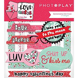 Photoplay cardstock Ephemera Pack - Love notes (30/pkg)