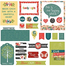 Photoplay cardstock Ephemera Pack - Memory Lane (26/pkg)