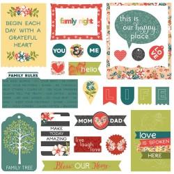 Photoplay cardstock Ephemera Pack - Memory Lane (26/pkg)